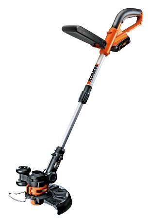 WORX-WG156 Li-Ion-Cordless-Grass-TrimmerEdger-with-2 20-volt-Batteries-and-Manual-Handle,-10-Inch-View